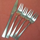 ROGERS Co SWISSE 5pc STAINLESS FLATWARE SILVERWARE