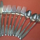 IMPERIAL CORTINA ROSE 10pc  STAINLESS FLATWARE SILVERWARE