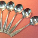 ONEIDA CLASSIC HARMONY WILMINGTON 5 ROUND SOUP SPOONS NORTHLAND DELCO STAINLESS FLATWARE SILVERWARE