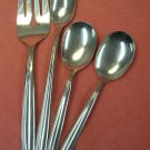 ONEIDA SAND DUNE SERVING FORK 2 SUGAR & ICED DRINK SPOONS STAINLESS FLATWARE SILVERWARE