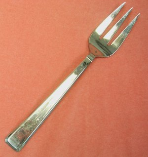 CAMBRIDGE RESTON SERVING COLD MEAT FORK STAINLESS FLATWARE SILVERWARE