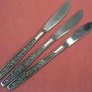 PAGEANT HARVEST 3 PLACE KNIVES STAINLESS FLATWARE SILVERWARE