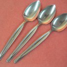 INTERNATIONAL INS 242 INS242 3 SERRATED SPOONS WM ROGERS STAINLESS FLATWARE SILVERWARE