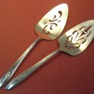 INTERNATIONAL SILVER TULIP 2 DESSERT SERVERS 1966 SILVERPLATE FLATWARE