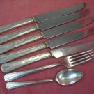 ONEIDA COMMUNITY CLARION 8pc 1931 FLATWARE SILVERWARE SILVERPLATE