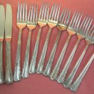 IS HOLMES & EDWARDS MAY QUEEN 12 NICE & 8 NOT SO NICE 1951 SILVERPLATE FLATWARE SILVERWARE