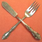 ONEIDA GALVESTON PROFILE SALAD FORK & SPREADER STAINLESS FLATWARE SILVERWARE
