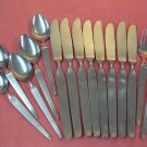 STANLEY ROBERTS SRI SIENNA 2 SALAD FORKS 8 KNIVES 5TSPOONS STAINLESS FLATWARE SILVERWARE
