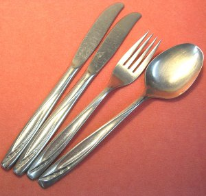 INTERNATIONAL ROGERS CUTLERY Co LAWNCREST 6pc STAINLESS FLATWARE SILVERWARE