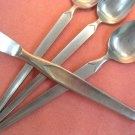 SRI STANLEY ROBERTS CORTINA KNIFE &3 SPOONS STAINLESS FLATWARE SILVERWARE