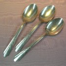 EKCO EKS 7 EKS7 3 SOLID SERVING SPOONS STAINLESS FLATWARE SILVERWARE