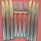 UTICA CUTLERY CO WALCO WALLCO BEACON 3 FORKS &6 KNIVES STAINLESS FLATWARE SILVERWARE