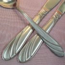 CAMBRIDGE MEDINA FROSTED 2KNIVES +1PLACE SPOON STAINLESS FLATWARE SILVERWARE