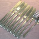 FARBERWARE CHATHAM 9pc STAINLESS FLATWARE SILVERWARE