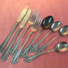 NATIONAL NS CO NST 24 NST24 8pc STAINLESS FLATWARE SILVERWARE
