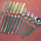 STANLEY ROBERTS SRI SIENNA 12pc STAINLESS FLATWARE SILVERWARE