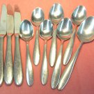 ONEIDA MOONCREST 10pc 18/0 STAINLESS FLATWARE SILVERWARE