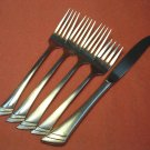 ONEIDA STANZA SATIN KNIFE &4 FORKS SILVERWARE STAINLESS FLATWARE SATIN 18/10