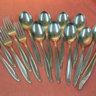 INTERNATIONAL BERMUDA 15pc Wm ROGERS STAINLESS FLATWARE SILVERWARE