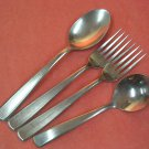 IMPERIAL MYSTIQUE STAINLESS 4pc FLATWARE SILVERWARE