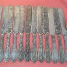 INTERNATIONAL HALL ELTON & CO TEASPOON &12 KNIVES SILVERPLATE FLATWARE