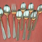 ONEIDA SPICE 9pc STAINLESS FLATWARE SILVERWARE