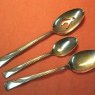 INTERNATIONAL INS 53 INS53 TEA PLACE & PIERCED SERVING SPOONS SILCO STAINLESS FLATWARE SILVERWARE