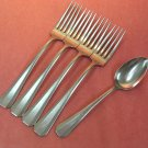 WALLACE WAS 11 WAS11 TEASPOON & 4 PLACE FORKS STAINLESS FLATWARE SILVERWARE