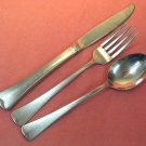 ONEIDA AMERICAN ARTISTRY HAMILTON SQUARE 3pc LTD 1881 ROGERS STAINLESS FLATWARE SILVERWARE