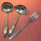 SILHOUETTE WHEAT 3pc STAINLESS FLATWARE SILVERWARE