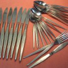 ONEIDA SHADOW WEAVE 29pc WEST BEND STAINLESS FLATWARE SILVERWARE
