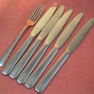 DS DS 7 DS7 6pc: 5 knives 1 fork STAINLESS FLATWARE SILVERWARE