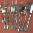 ONEIDA LTD WM ROGERS GLOSSY MANSFIELD BAR BERRY CRANFORD 12pc STAINLESS FLATWARE SILVERWARE