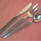 NATIONAL SEVITA SERVING FORK, ICED DRINK SPOON &KNIFE STAINLESS FLATWARE SILVERWARE