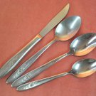 IMPERIAL DEL ROSE DELROSE 5pc CUSTOM STAINLESS FLATWARE SILVERWARE