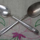 INTERNATIONAL HOLMES & EDWARDS DANISH PRINCESS 2 SPOONS 1938 SILVERPLATE FLATWARE SILVERWARE