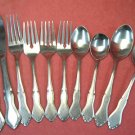 ROGERS CO GLENDALE 4FORKS 4SPOONS 3KNIVES STAINLESS FLATWARE SILVERWARE