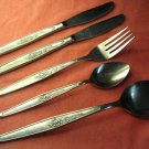 IMPERIAL MISTY MORN or YOUNG ROSE IIC STAINLESS 5pc FLATWARE SILVERWARE