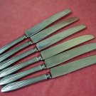 ALBERT PICK & CO. INC. 6 PLACE KNIVES STAINLESS FLATWARE SILVERWARE
