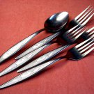 UTICA BELL FLOWER PLACE SPOON &4 FORKS CUTLERY CO STAINLESS FLATWARE SILVERWARE