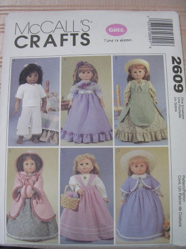 "MCCALL'S CRAFTS 2609 AMERICAN GIRL 18"" DOLL DRESS PATTERN SEWING"