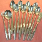 ONEIDA PROFILE 11pc ONEIDACRAFT DELUXE STAINLESS FLATWARE SILVERWARE
