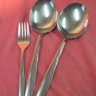 DUCHESS DCS 2 DCS2 2 SERVING SPOONS & SALAD FORK STAINLESS SILVERWARE FLATWARE