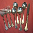 ONEIDA ROGERS SUMMER MIST CASSANDRA LIMELIGHT 8pc STAINLESS FLATWARE SILVERWARE