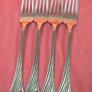 ONEIDA DELIUS 4 PLACE FORKS NORTHLAND STAINLESS FLATWARE SILVERWARE