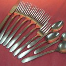 ONEIDA GLEN COVE TAPER KNIFE &4SPOONS 6FORKS ALL AMERICAN STAINLESS FLATWARE SILVERWARE