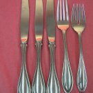 ONEIDA ARBOR AMERICAN HARMONY 2 FORKS &3 KNIVES STAINLESS FLATWARE SILVERWARE