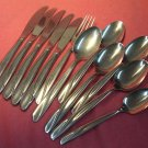 INTERNATIONAL FINLANDIA TIVOLI GUEST HOUSE FORK 6SPOONS 5KNIVES INSICO STAINLESS FLATWARE SILVERWARE