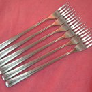 TOWLE LIBERTY BELL BELLE 6 SEA FORKS SUPREME STAINLESS FLATWARE SILVERWARE