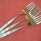 CARLTON CAS 2 CAS2 3 SALAD FORKS STAINLESS FLATWARE SILVERWARE